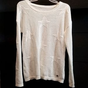 Open Knit woven sweater with Stars